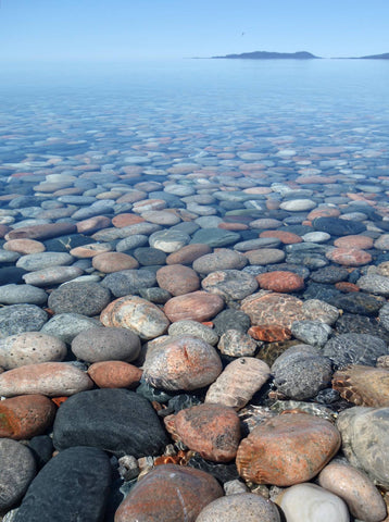 Pebble Beach at Maration on Lake Superior. Photo by Karen Richardson