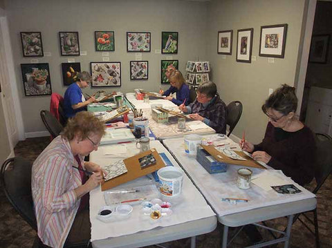 Watercolour workshop in Karen Richardson studio