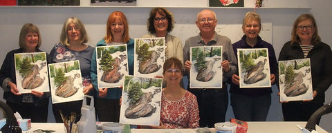 Snow and Stone watercolour class with Karen Richardson