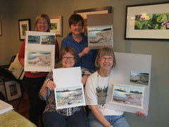Jackie, Mary, Marion and Elaine painted Georgian Bay Shores
