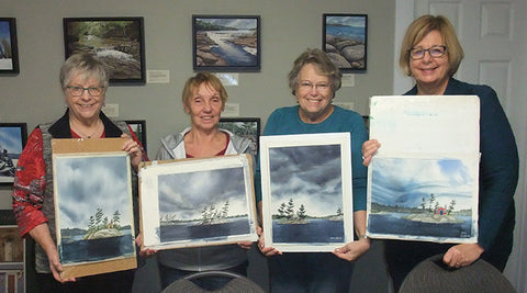 Island in the Storm watercolour class by Karen Richardson