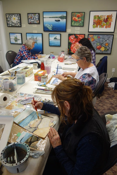 Karen Richardson watercolour class