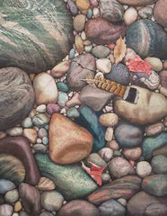 "Beach Treasures, 20 x 16"", watercolour on panel"