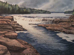 Below the Falls, watercolour by Karen Richardson