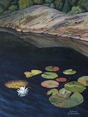 "Georgian Bay Waterlily, 12 x 9"", watercolour on panel (SOLD)"