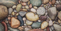 Beach Rocks Bigtime, watercolour by Karen Richardson