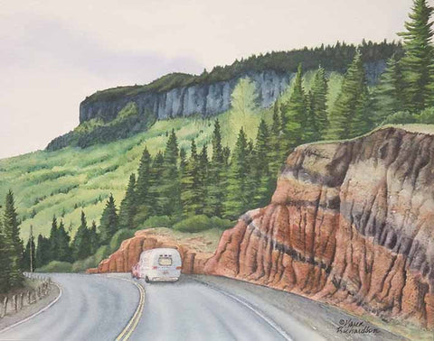 Superior Road Trip, watercolour by Karen Richardson