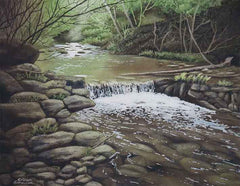 Woodland Waterfall, watercolour by Karen Richardson