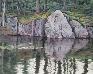 Northern Reflections, watercolour by Karen Richardson