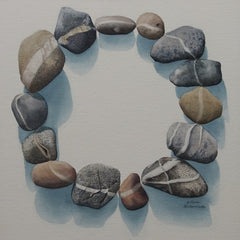 Karen Richardson's completed stone circle watercolour