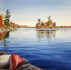 Bring a Paddle, watercolour by Karen Richardson