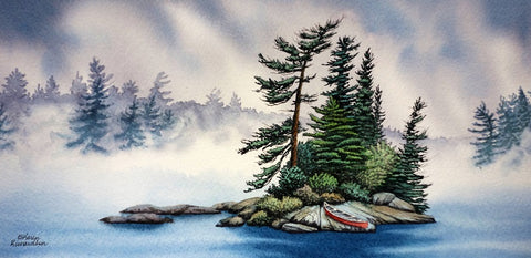 Mysteries in the Mist, watercolour by Karen Richardson