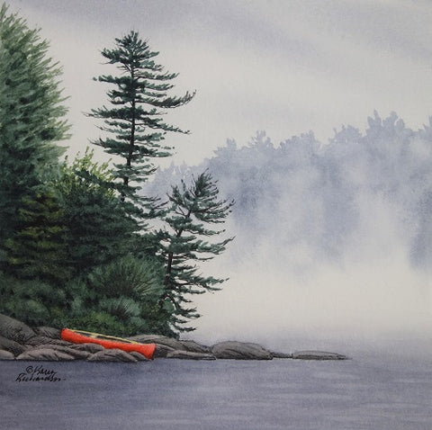 Secrets in the Mist, watercolour by Karen Richardson