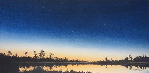 Summer Constellations watercolour by Karen Richardson