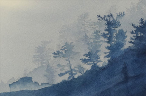 Blue Becomes You (detail), watercolour by Karen Richardson