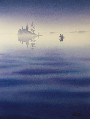 Out of the Blue, watercolour by Karen Richardson