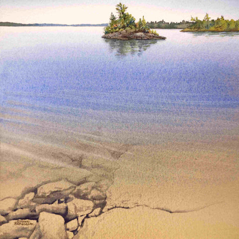 Serenity By The Shore, watercolour by Karen Richardson