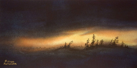 Up at the Crack of Dawn, watercolour by Karen Richardson