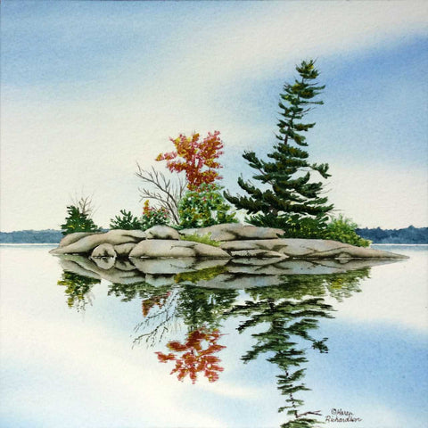 On a Clear Day, watercolour by Karen Richardson