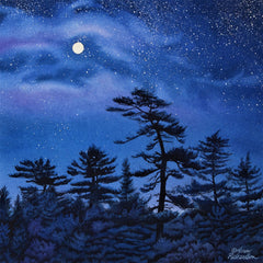 Dancing With the Moon, watercolour by Karen Richardson