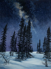 Land of a Million Stars, watercolour by Karen Richardson