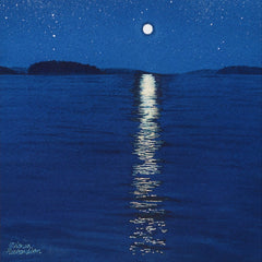 Moonbeam, watercolour by Karen Richardson