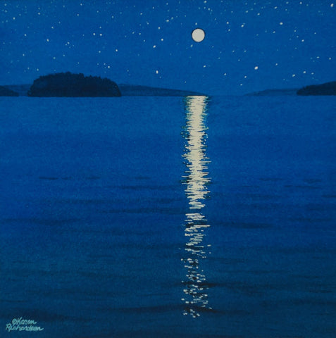 Moonbeam Dream, watercolour by Karen Richardson