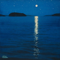 Moonbeam Melody, watercolour by Karen Richardson