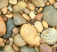 Smooth beach pebbles, photograph by Karen Richardson