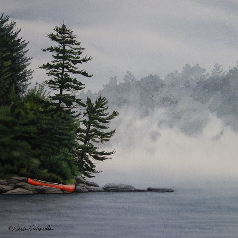 Secrets of the Mist, watercolour by Karen Richardson