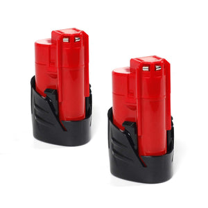 2-packs MILWAUKEE 2320-21 Battery Compatible Replacement