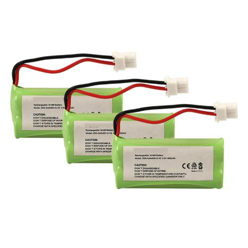 3-packs GE 2-8801 Replacement Battery Compatible Replacement
