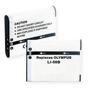 2-Packs Olympus Stylus 8000 Replacement Battery Compatible Replacement