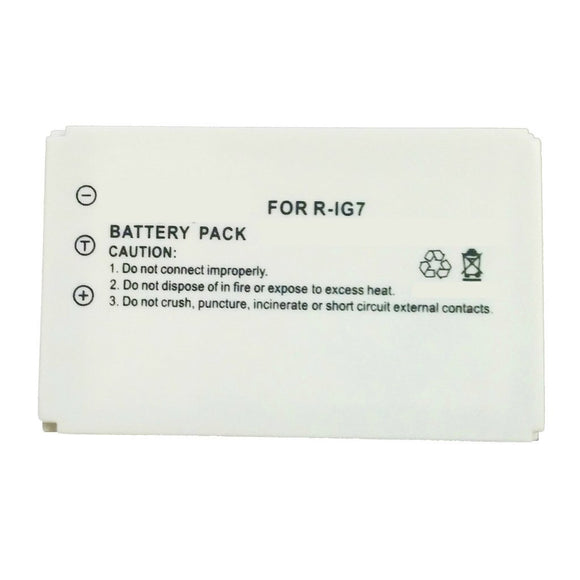 Part Number R-IG7 Replacement Battery Compatible Replacement