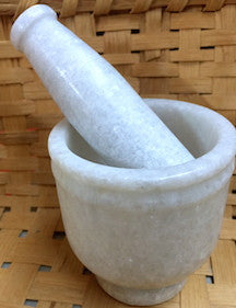 White Stone Mortar and Pestle