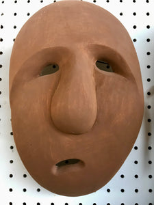 Plain Brown Face Mask by Paul Hornbuckle
