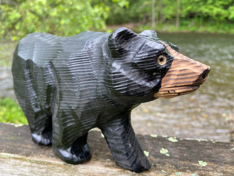 Black Bear Wood Carving