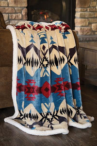 Blue River Plush Sherpa Throw