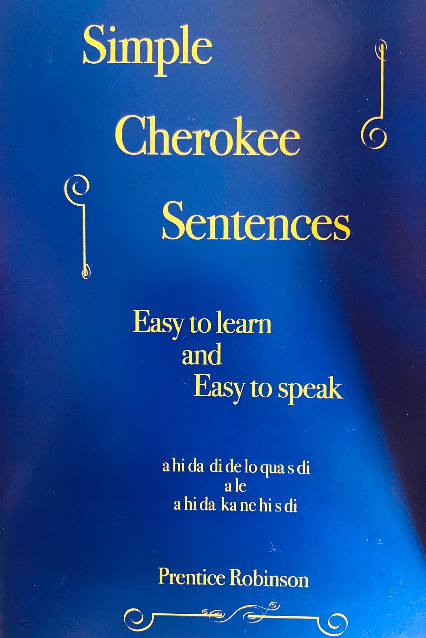 Simple Cherokee Sentences Book