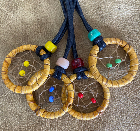 Beaded Dreamcatcher Pendant