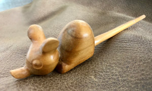 Small Mouse wood carving