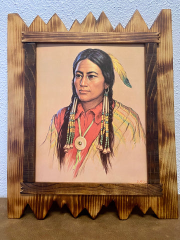 Art Print of Native American Man