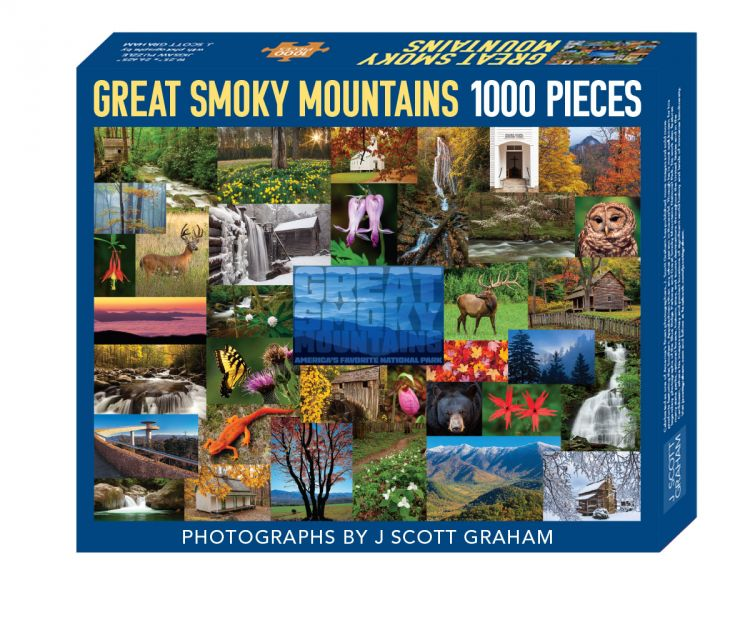 Great Smoky Mountains Collage Puzzle by J Scott Graham