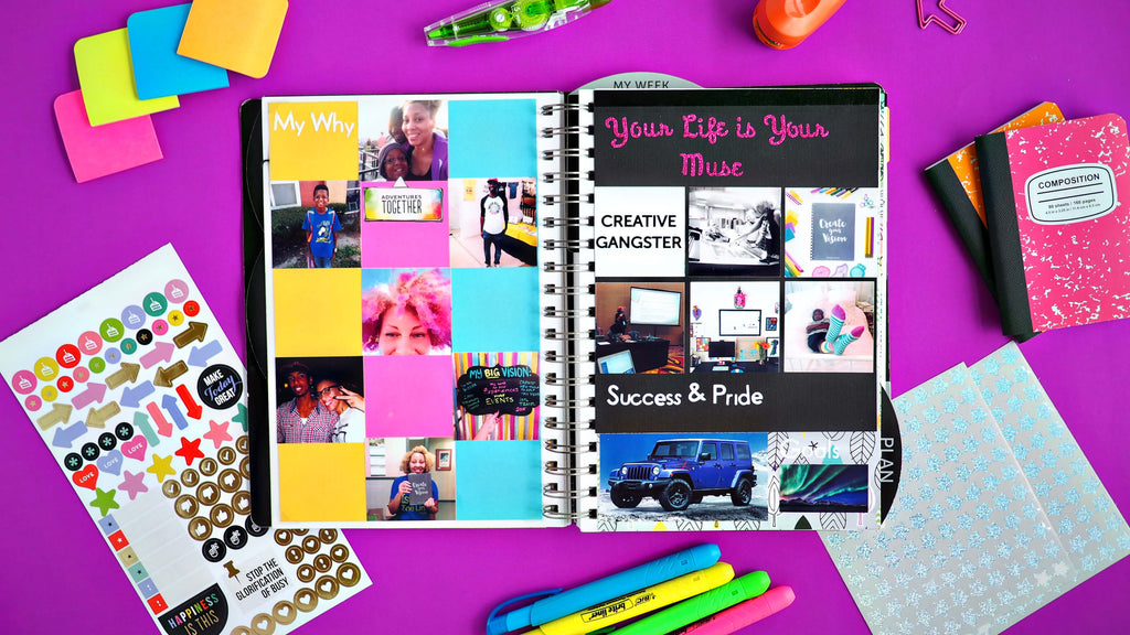 Visionary Journal - goal setting planner with vision board layout