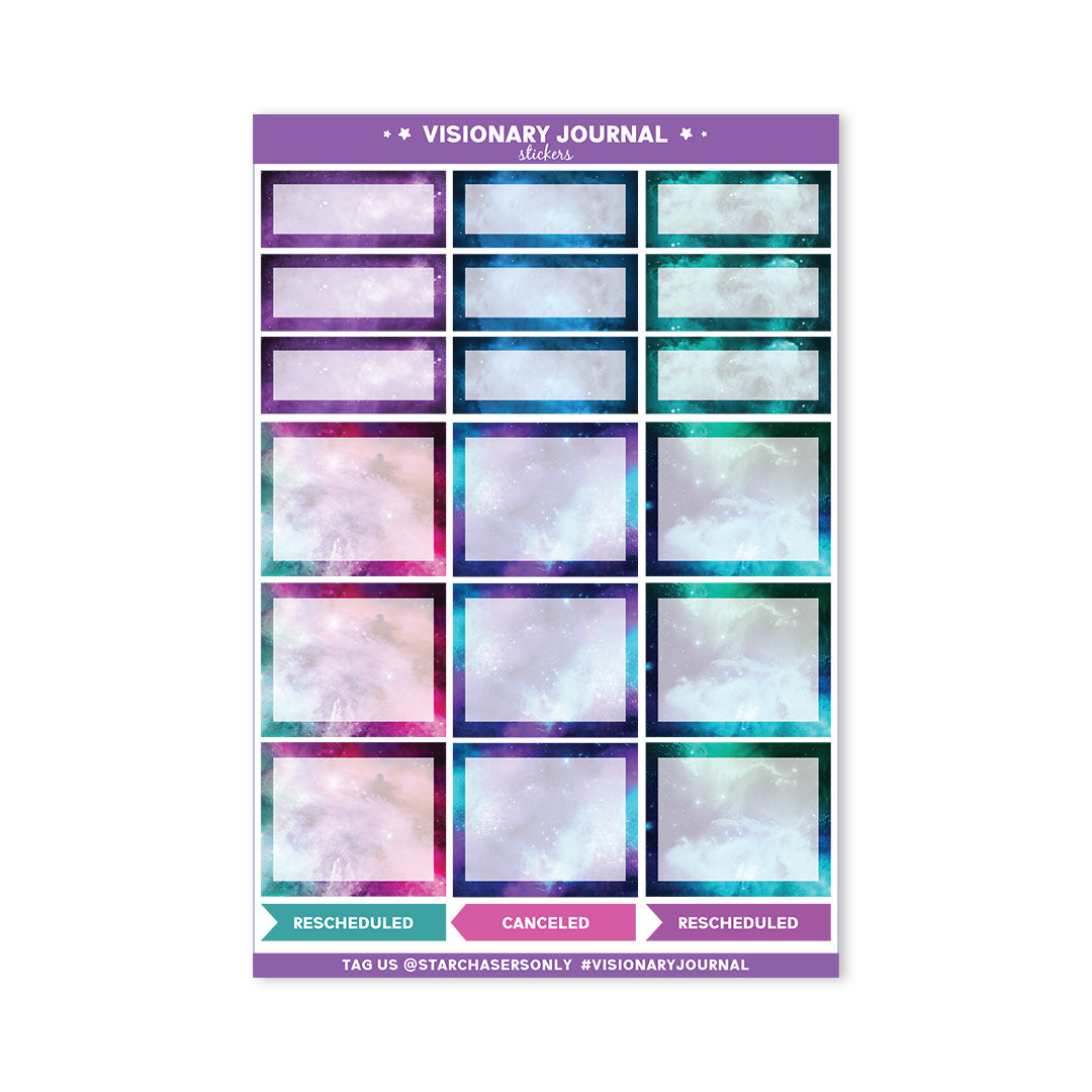 Time Blocking Stickers - Galaxy