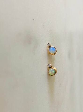 Fire Opals & Diamonds.   ear