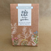 In The Garden.......bath salts.  for sore muscles
