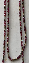 garnets & pyrite.   magic necklace