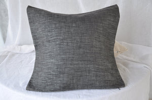 Cassaro Silver Cushion Cover - Black