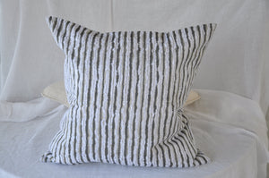 Dominique Kieffer by Rubelli- Rigatto Cushion Cover - Blanc